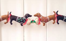 dachshund christmas garland doxie christmas decoration
