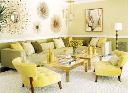 Gold Accent Chair Yellow Accent Chair Living Room Contemporary With Analogous Color