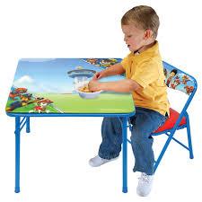 paw patrol kids table set nickelodeon paw patrol junior table and padded chair set
