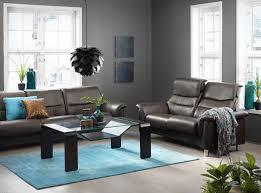 stressless como lowback sofa on l u0026 highback sofa on r in cori