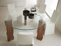 Bases For Glass Dining Room Tables Ultimate Glass Dining Table With Oak Base On Small Home Decor