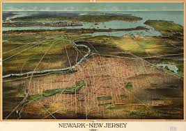 Newark Map Birdseye View Of Newark New Jersey 1916