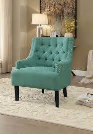 Teal Accent Chair Charisma Accent Chair 1194tl In Teal Fabric By Homelegance