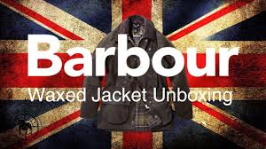 barbour waxed jacket unboxing youtube