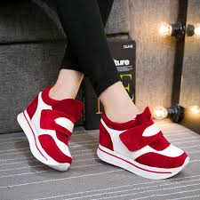 discount cheap fashion women sneakers shoes online 2017 new top fashion red black leisure pu rubber the beautiful girl