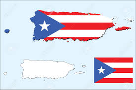 Flag Puerto Rico Vector Of Puerto Rico Map With Flag Royalty Free Cliparts Vectors