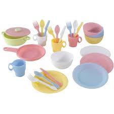 cuisine dinette enfant ensemble de 27 ustensiles de cuisine pastel dinette pour les