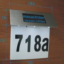solar house number plate light 4led stainless steel solar