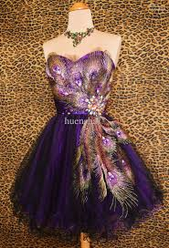 wholesale purple peacock prom cocktail evening mardi gras