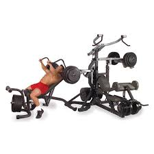 Weights And Bench Package Body Solid Sbl460p4 Free Weight Leverage Gym Package