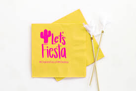 fiesta birthday party napkins taco party decorations