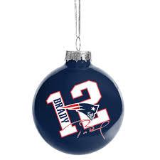 tom brady bulb ornament patriots proshop