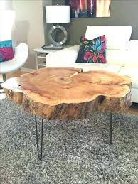 wood slice end table table made out of tree slice round table made out of a 6 thick slice