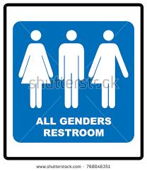 all gender restroom sign male female stock vector 768046351