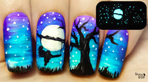 freehand cloud design nail art tutorial glow in the dark threat message nail art texts messages and proud