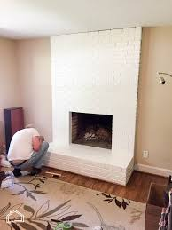 icy avalanche sherwin williams how to paint a brick fireplace housetwohouse