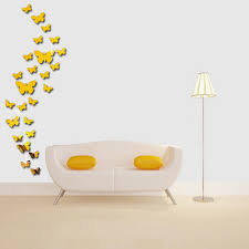 acrylic 3d mirror wall stickers butterfly fly decals home