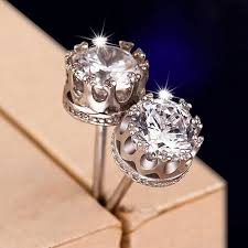 diamond earrings for sale sale 8mm cz 925 sterling silver earrings for women men