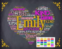personalized 90th birthday gift 90th birthday gift ninety birthday