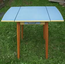 oak kitchen table with formica top retro vintage wooden kitchen drop leaf table blue formica top drawer