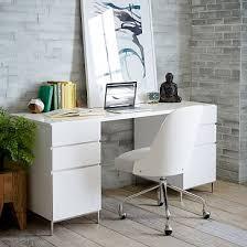 modern desk with storage lacquer storage desk set 2 box files west elm