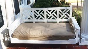 hand made chippendale porch bed swing by ambassador woodcrafts