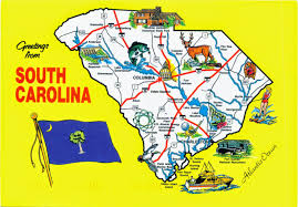 South States Map by World Come To My Home 1371 United States South Carolina