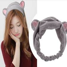 korean headband 2017 new design korea plush rabbit ear headband women cat ear