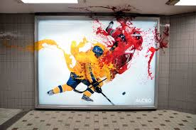 Hockey Wall Mural Alcro Outdoor Advert By Lowe Colour Tackle Ads Of The World