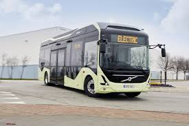 new volvo commercial volvo u0027s first all electric bus begins public road tests team bhp