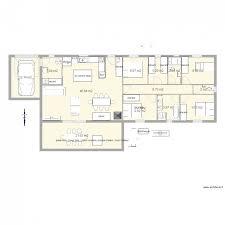 plan maison plain pied 6 chambres maison plein pied droit 3 chambres 1 bureau plan 13 pièces 144
