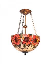 tiffany style ceiling fan glass shades tiffany style chandelier lighting with sunflower and leaves pattern