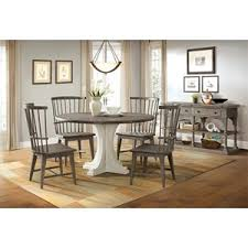 riverside furniture juniper rectangle leg dining table in two tone