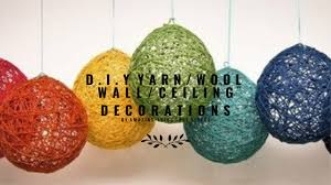 d i y yarn wool lanterns decorations