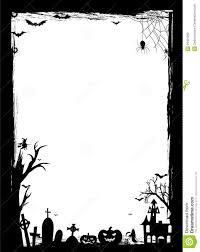 halloween border black and white blank synapse diagram
