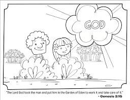 adam eve bible coloring
