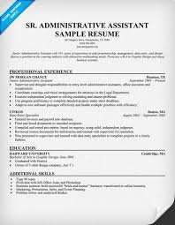 Sample Resume Of Administrative Assistant Senior Administrative Assistant Resume Resumecompanion Com