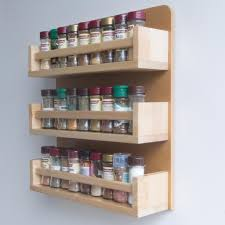 furniture 3 tiers natural wooden spice rack for kitchen furniture