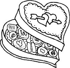 Chocolate Food In Love Shaped Box Coloring Pages Bulk Color Box Coloring Pages
