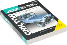 jeep repair manual chilton 40650 chi repair manual for 87 08 jeep wrangler yj tj