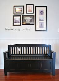 leisure living mission style storage bench