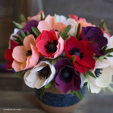 anemones flowers sided crepe paper anemone flower lia griffith