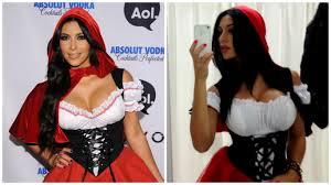 Kardashian Family Halloween Costumes Reggie Bush U0027s Wife Is Giving Kim Kardashian A Run For Her Money