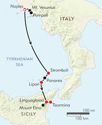 Map Of Capri Italy by Volcanoes Of Southern Italy Itinerary U0026 Map Wilderness Travel