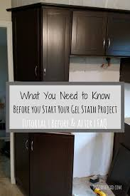 how to apply gel stain to kitchen cabinets general finishes gel stain tutorial cheap cabinet