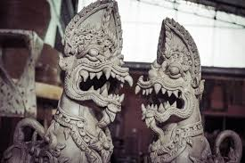 foo dog for sale thai foo dogs singha ceramic statues in pair foo dogs for sale