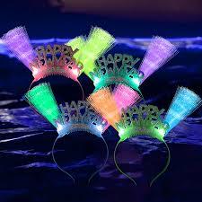led new years fiber optic happy new years headband led headband new years