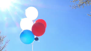 balloons that float helium balloons floating through the sky stock footage