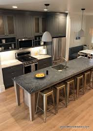 grey kitchen cabinets with black countertops remodelaholic 40 beautiful kitchens with gray kitchen cabinets