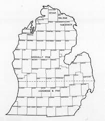 peninsula michigan map photos from michigan s history